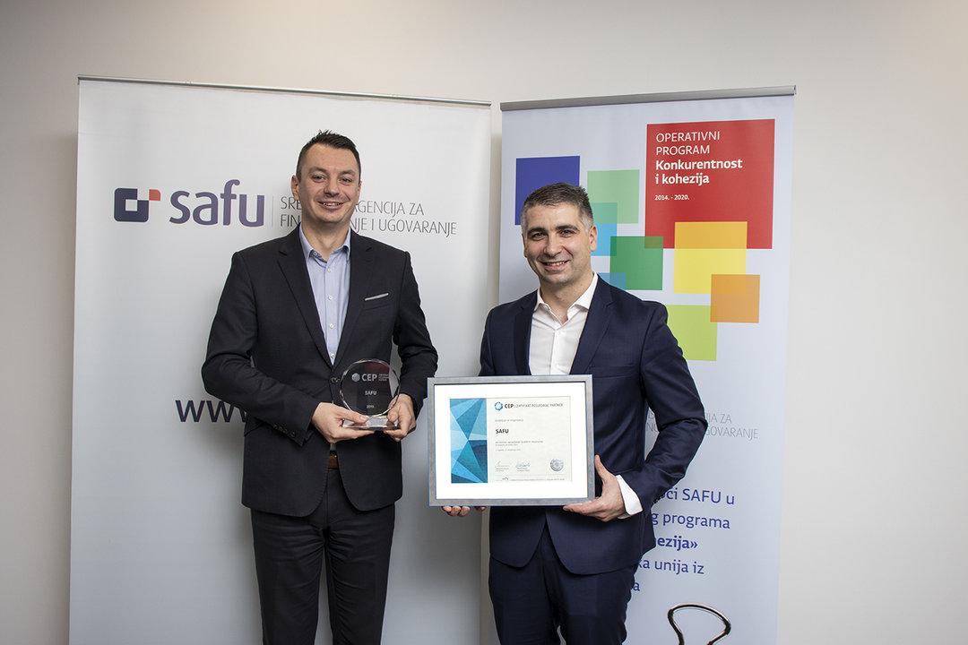 Certifikat Poslodavac Partner prvi put je dodijeljen SAFU