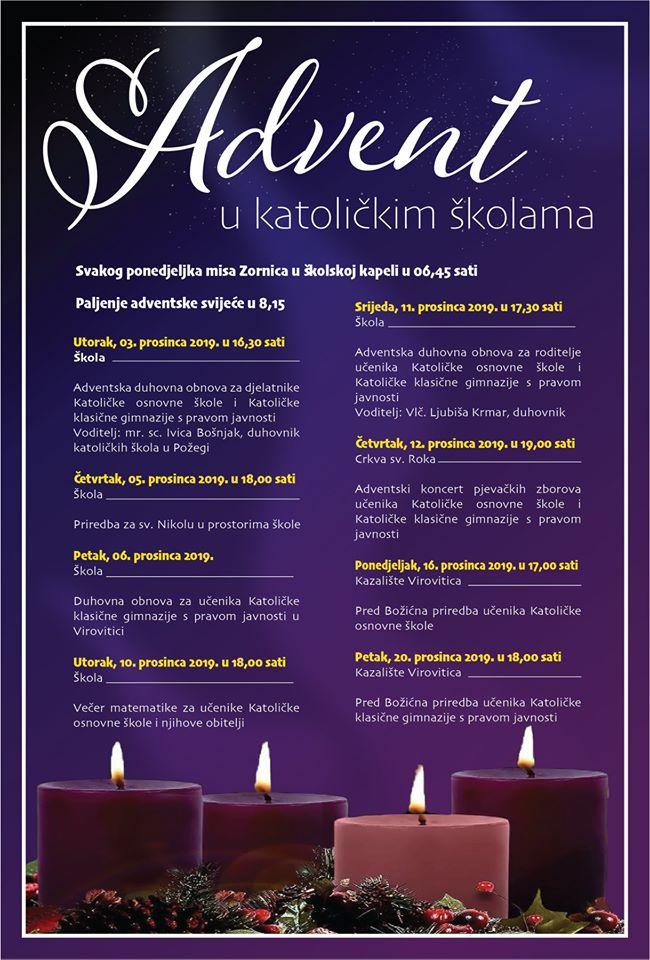 NAJAVA advent u katoličkim školama