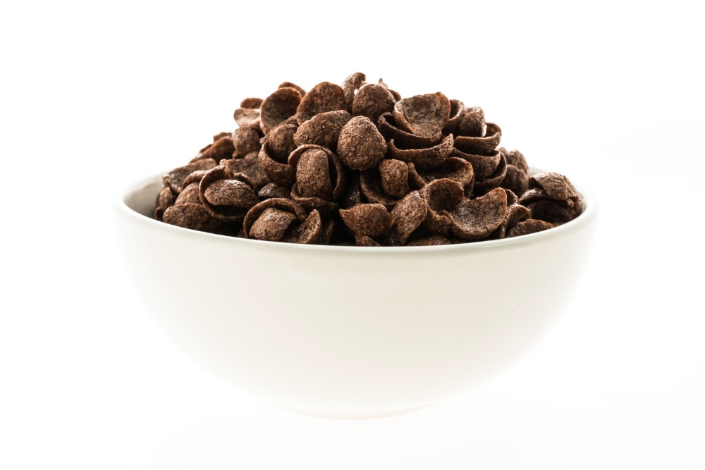 cereals chocolate white bowl